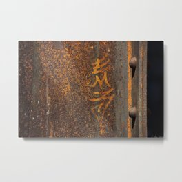 Raw Steel Metal Print