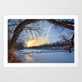 A January Morning Art Print