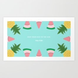 watermelon&pineapple Art Print