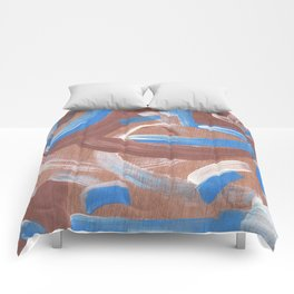 Falling Water Abstract Comforters