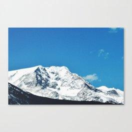 bold mountain against the sky Canvas Print