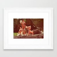 bambi Framed Art Prints featuring Bambi by Teodoru Badiu
