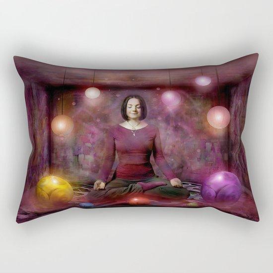 Woman in Meditation Rectangular Pillow