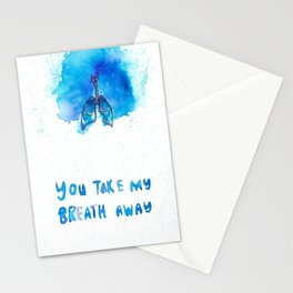 """You Take My Breath Away""  Stationery Cards"