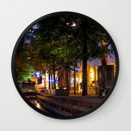 Laubach Laupheim by night Wall Clock
