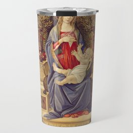 Botticelli - Madonna With Saints Travel Mug