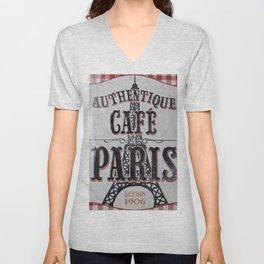 Coffee of Paris   Café de Paris Unisex V-Neck