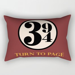 Turn to Page 394 Rectangular Pillow