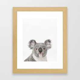Koala, Animal, ZOO, Nursery, Minimal, Modern, Wall art Art Print Framed Art Print