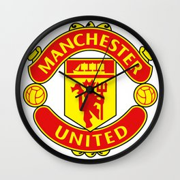 Manchester United Logo Wall Clock