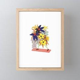 Floral Yoga Babe Framed Mini Art Print
