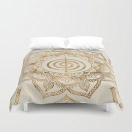Cho Ku Rei - pastel gold lotus mandala Duvet Cover