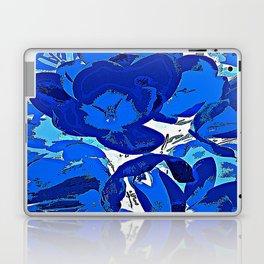 Blue Flowers Laptop & iPad Skin