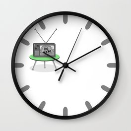 Kapow TV Wall Clock