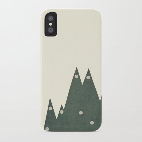 Moonlit Peaks iPhone Case