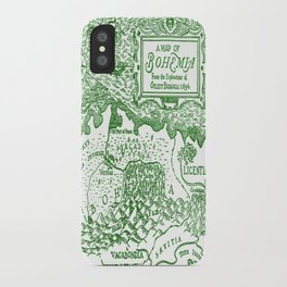 Map of Bohemia (green) iPhone Case