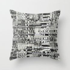Exploiting Digital Behavior (P/D3 Glitch Collage Studies) Throw Pillow