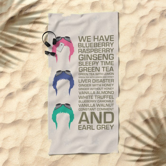 Myriad Of Teas Beach Towel