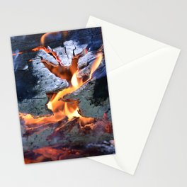 black white and flame Stationery Cards