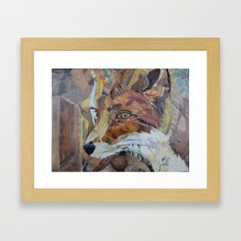 Fox Art Collage by C.E. White Framed Art Print
