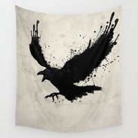 raven Wall Tapestries featuring Raven by Nicklas Gustafsson