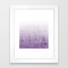 Radiant Orchid Purple Ombre  Framed Art Print