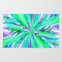 Blue/Green Feathery Abstract Rug