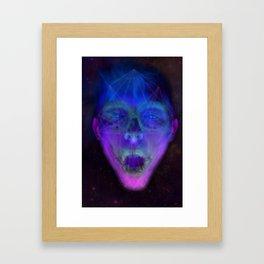 SpaceFace Framed Art Print
