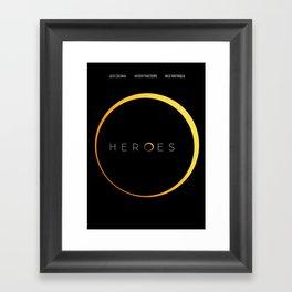 HEROES - MINIMAL Framed Art Print