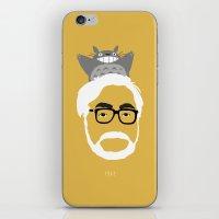 hayao miyazaki iPhone & iPod Skins featuring Miyazaki, 1941 by Jarvis Glasses