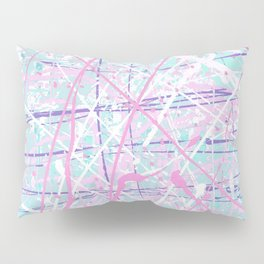 Flight of Color - pink turquoise Pillow Sham