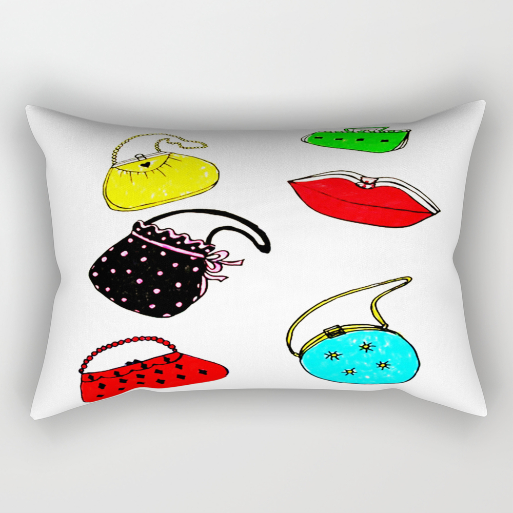 Purses Rectangular Pillow by janetscreativecottage (RPW8538433) photo