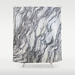 Wild Natural Marble Shower Curtain