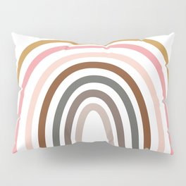 Whimsical Rainbow in Earthy Colors Pillow Sham