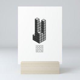 Magic square of Saturn in 3D / Talisman Mini Art Print