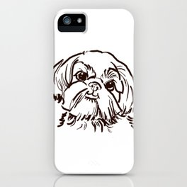 The sweet Shih Tzu dog love of my life! iPhone Case