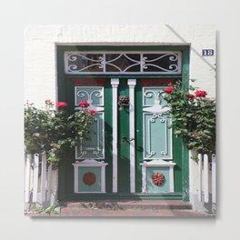 Beautiful Old Fraislaand Door Metal Print