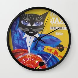 1994 Montreal Jazz Festival Cool Cat Poster No. 3 Gig Advertisement Wall Clock