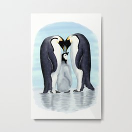 family of penguins Metal Print