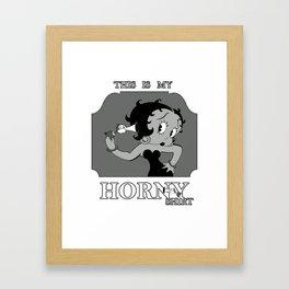 Horny Shirt Framed Art Print