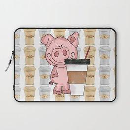 Mr Pig Loves His Coffee Laptop Sleeve