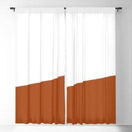 Stripe Block (burnt orange/white) Blackout Curtain