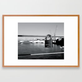 Love Locks 2012 39 Framed Art Print