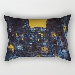 Ghost In The Shell Vibes / Liam Wong / Hong Kong Cyberpunk Rectangular Pillow