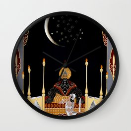 "Art Deco Exotic Design ""In the Casbah"" Wall Clock"