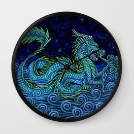 Chinese Azure Dragon Wall Clock