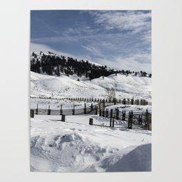 Carol M Highsmith - Snow Covered Hills Poster
