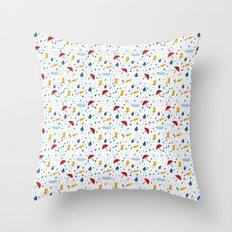 Rainfall pattern Throw Pillow