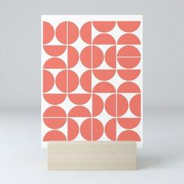 Mid Century Modern Geometric 04 Living Coral Mini Art Print