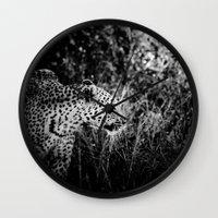 leopard Wall Clocks featuring Leopard by BethWold